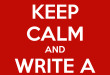 Keep Calm and Write A Synopsis