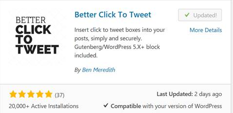 Another Favorite Plug In Is Better Click To Tweet Which Allows Readers Share A Captivating Quote From Your Blog Twitter